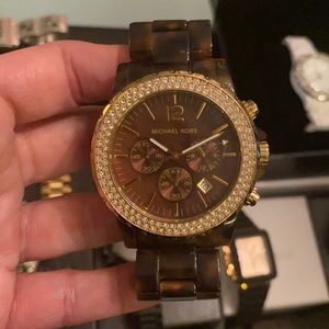 MK tortoise shell watch GREAT CONDITION w/links